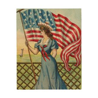 sailor girl - vintage nautical patriotic art