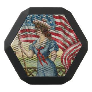 sailor girl - vintage nautical patriotic art black bluetooth speaker