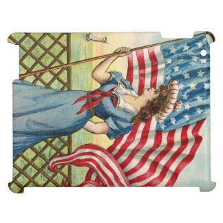 sailor girl - vintage nautical patriotic art iPad cases