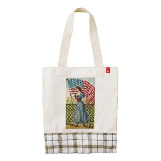sailor girl - vintage nautical patriotic art zazzle HEART tote bag