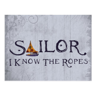 Sailor - I know the Ropes Postcard