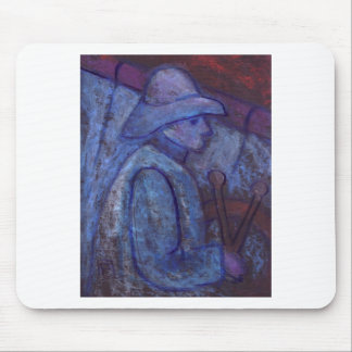 SAILOR IN ROUGH SEA MOUSE PAD