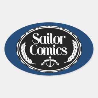 Sailor logo oval sticker