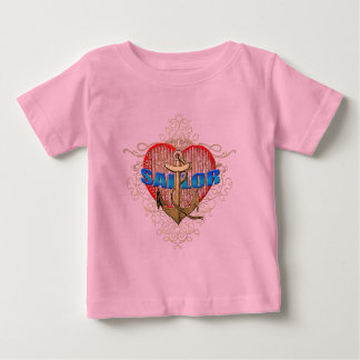 Sailor Love For lovers of sailors Anchor Heart Baby T-Shirt