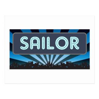 Sailor Marquee Postcard
