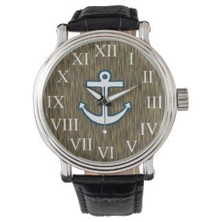 Sailor Nautical Anchor Men's Dad's Watch Gift