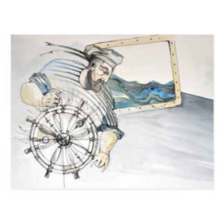 Sailor  nautical decoration postcard
