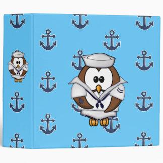 sailor owl 3 ring binder