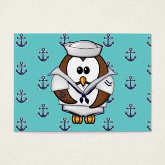 sailor owl business card