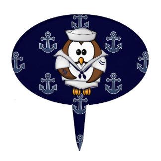 sailor owl cake pick