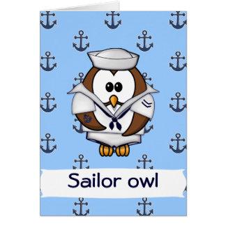 sailor owl card