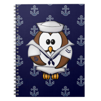 sailor owl spiral note books