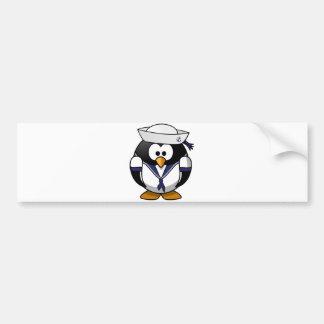 Sailor Penguin Car Bumper Sticker