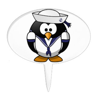 Sailor Penguin Cake Topper