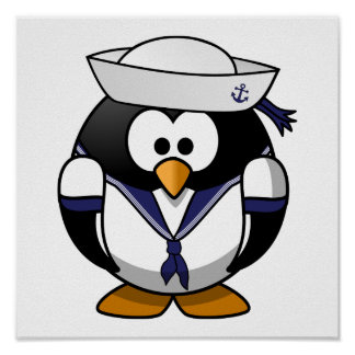 Sailor Penguin Cute Cartoon Print