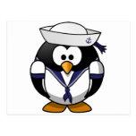 Sailor Penguin Postcard