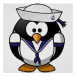 Sailor Penguin Poster
