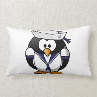 Sailor Penguin Throw Pillow