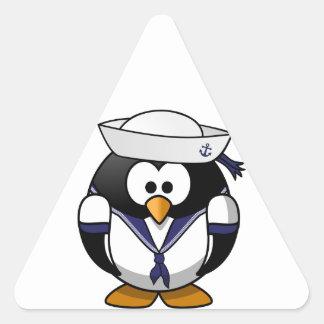 Sailor Penguin Triangle Sticker