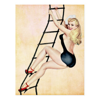 Sailor Pin up Girl Postcard