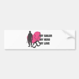 Sailor Pink Heart Bumper Sticker