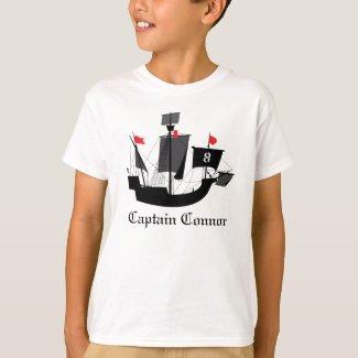 Sailor Pirate Boys Birthday T Shirt