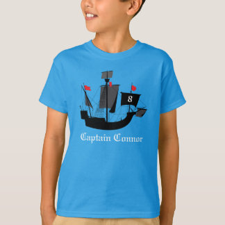 Sailor Pirate Boys Birthday T Shirt Blue