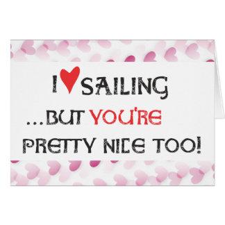 Sailor s Valentine Card - I heart love Sailing