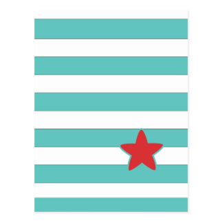Sailor Star Style Stripes Post Card