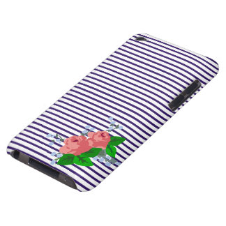Sailor Stripes and Roses Barely There iPod Cover