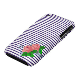 Sailor Stripes and Roses Case-Mate iPhone 3 Case