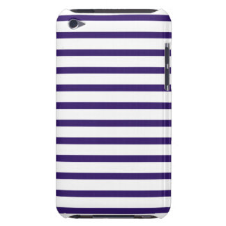 Sailor Stripes - Navy Blue and White Barely There iPod Case