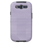 Sailor Stripes - Navy Blue and White Galaxy SIII Covers