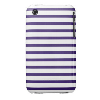 Sailor Stripes - Navy Blue and White Case-Mate iPhone 3 Case