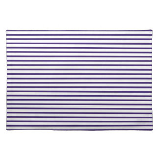 Sailor Stripes - Navy Blue and White Cloth Placemat