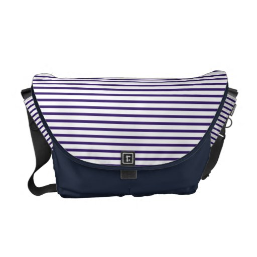 Sailor Stripes - Navy Blue and White Courier Bag
