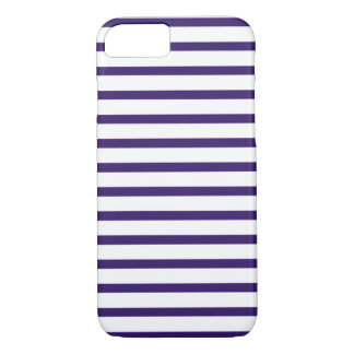 Sailor Stripes - Navy Blue and White iPhone 7 Case
