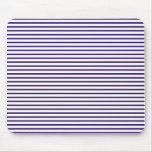Sailor Stripes - Navy Blue and White Mouse Pad
