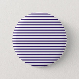 Sailor Stripes - Navy Blue and White Pinback Button