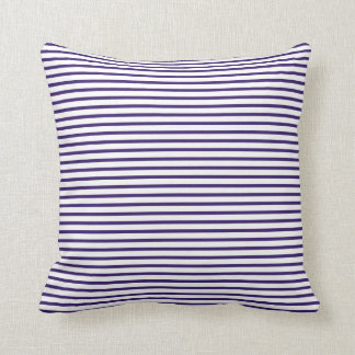 Sailor Stripes - Navy Blue and White Throw Pillow