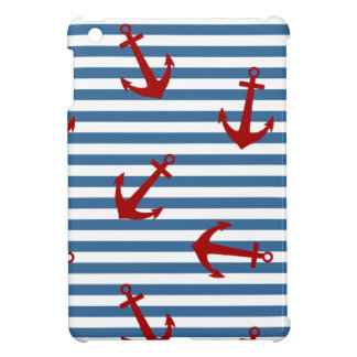 Sailor Stripes Pattern Art iPad Mini Cover