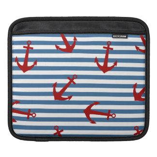 Sailor Stripes Pattern Art iPad Sleeve