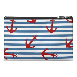 Sailor Stripes Pattern Art Travel Accessory Bags