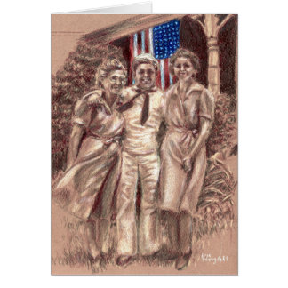 Sailor Visiting Home Card