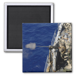 Sailors aboard USS Fort McHenry 2 Inch Square Magnet
