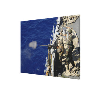 Sailors aboard USS Fort McHenry Stretched Canvas Prints