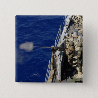 Sailors aboard USS Fort McHenry Pinback Button