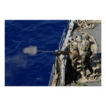 Sailors aboard USS Fort McHenry Poster