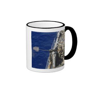 Sailors aboard USS Fort McHenry Ringer Coffee Mug