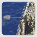 Sailors aboard USS Fort McHenry Square Sticker